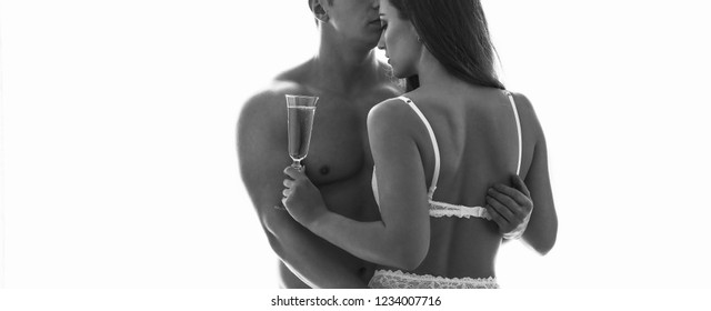 Sex couple. Young lovers. People in love. black and white photos sexy couple.