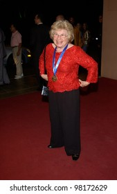 Sex therapist DR. RUTH WESTHEIMER at pre-Grammy party given by Clive Davis of J Records at the Beverly Hills Hotel. 25FEB2002   Paul Smith / Featureflash