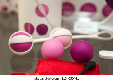 sex toys on display in the store