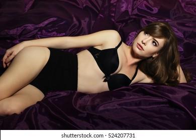 Sexiest Woman In Beautiful Lingerie Studio Lighting