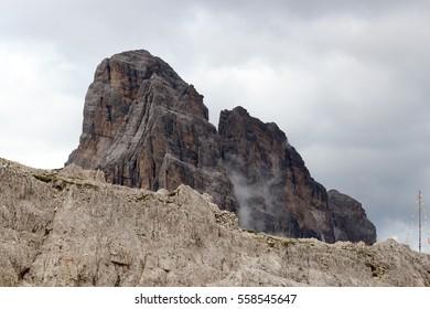 Sexten Dolomites mountain Zwolferkofel in South Tyrol, Italy