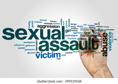 Sexual assault word cloud concept