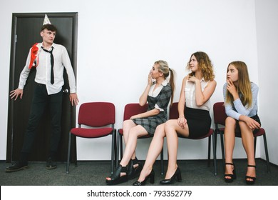 sexual coercion at work awkward moment concept. harassment of boss. office lifestyle.