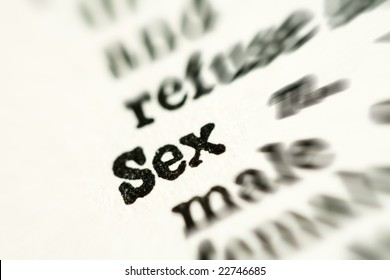 Sexual Education Concept. Sex Word in Dictionary
