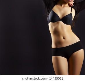 sexual feminine body is bent