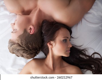 Sexual frustration. Lovers ignore each other
