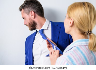 Sexual harassment between colleagues and flirting in office. Sexual harassment at work and workplace. Try to seduce director