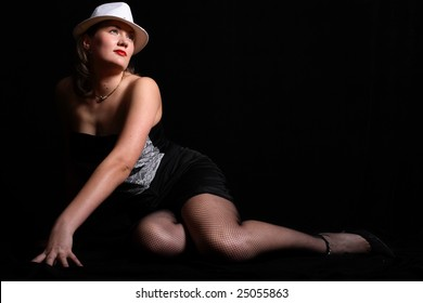 Sexual woman in hat