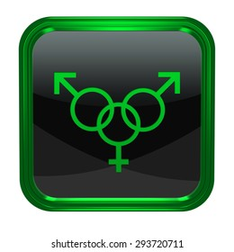 Sexuality square icon on white background