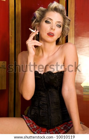 d81c6fa7222 Sexy 1950 S Style Pinup Girl Stock Photo (Edit Now) 10010119 ...