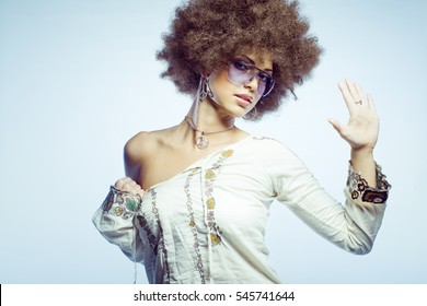 Sexy afro woman with attitude.