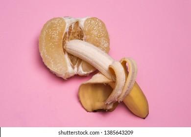 Sexy, art. Etotic, sex, sexual, feelings, nude, lingrie, love, porn, cunt, vagine, fruit, fruits, banana, pomelo
