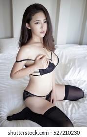 Thai women in stockings