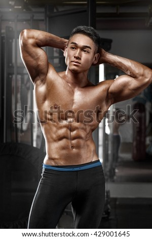 Asian muscle man