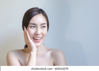 sexy Asian woman with beauty face and perfect skin