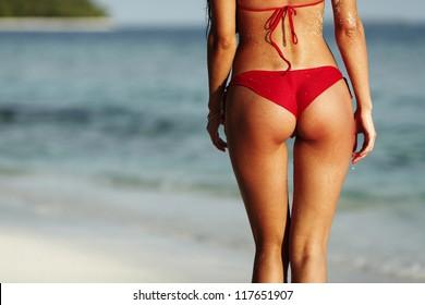 Girls in micro shorts