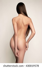 sexy back of nude woman.fashion art photo of naked body girl