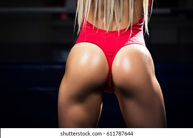 Sexy beautiful athletic ass . Beautiful athletic woman