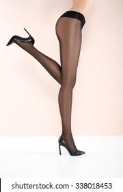 Sexy beautiful legs in pantyhose