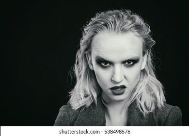 Sexy blonde. Beauty fashion photo