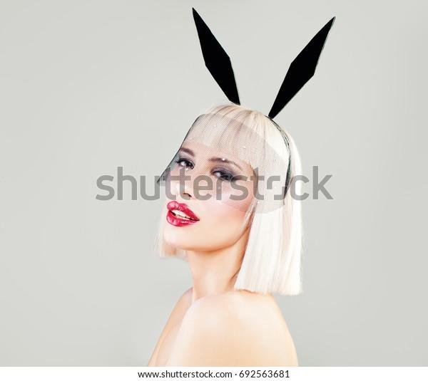 Sexy Blonde Girl, Fashion Portrait