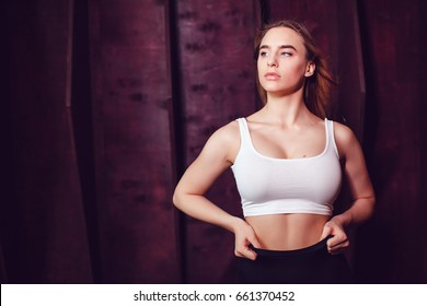Women with nice boobs in a tank top