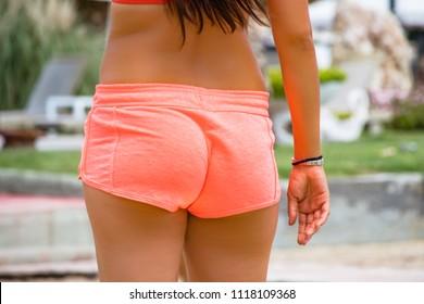 Sexy Brazilian ass in shorts