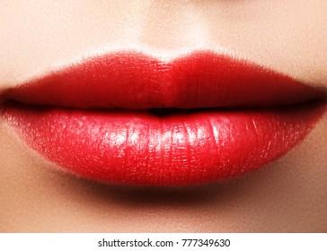Lips sexy glossy shiny