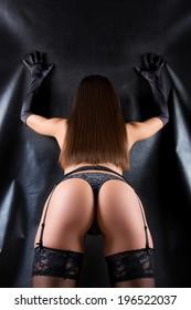 sexy butt girls in underwear. girl in stockings