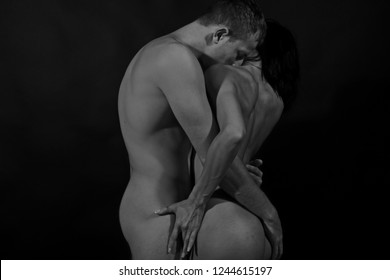 Sexy couple. Sensual couple. Adult. Passionate concept. Passion. Sexy woman. Shadow. Black and white. Glamour.