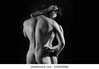 Sexy couple. Sensual. Sexy man and woman. Passionate concept.