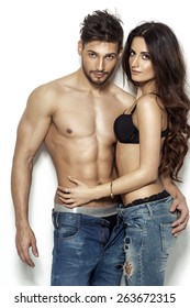 Sexy couple in underwear