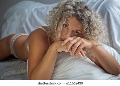 Naked grey haired women