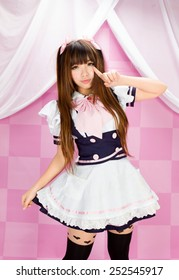 sexy cute maid japanese style asian cosplayer