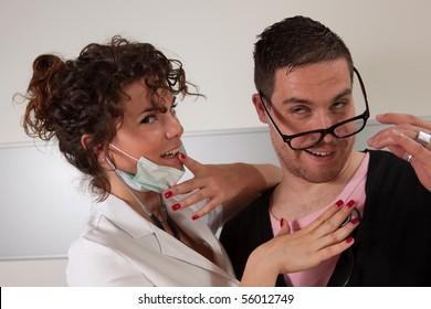 Sexy doc seducing her patient