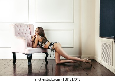Sexy fashion woman in seductive lingerie