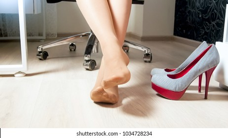 ef11c8e3eac Feet Under Table Images, Stock Photos & Vectors | Shutterstock