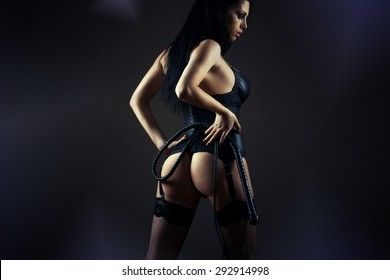 sexy female figure in the style of BDSM