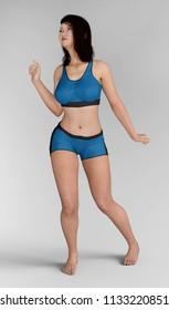 Sexy female underwear model Computer generated 3D illustration