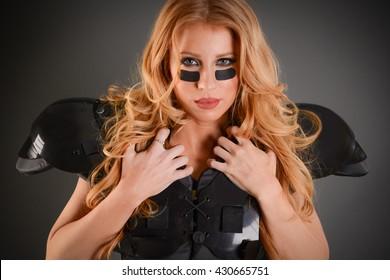 Sexy Fierce young Football Girl