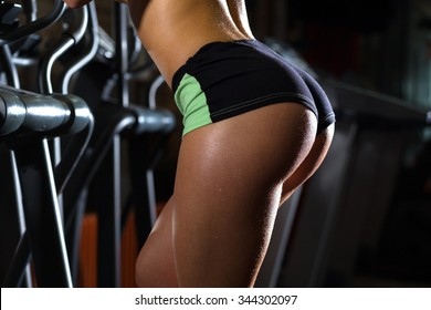 Sexy fitness ass on treadmill