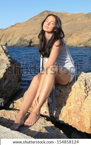greece girl photo