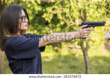 Sexy girl shooting