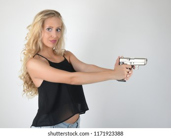 sexy girl with gun