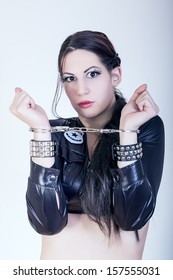 sexy girl with handcuffs