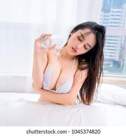 Sexy girl in mini bikini ,japanese style