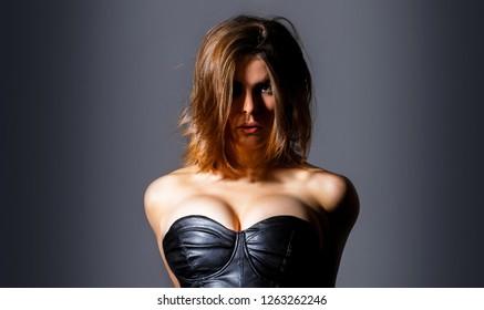 Sexy girl, Sensual female breast