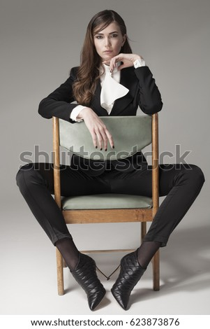 Sexy girls sitting in a chair galleries 797