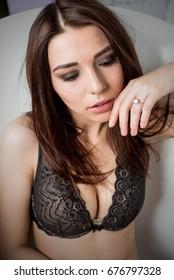 Sexy girl in studio