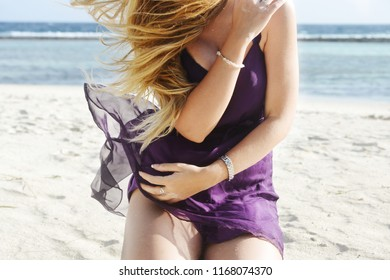 Sexy girl in sundress